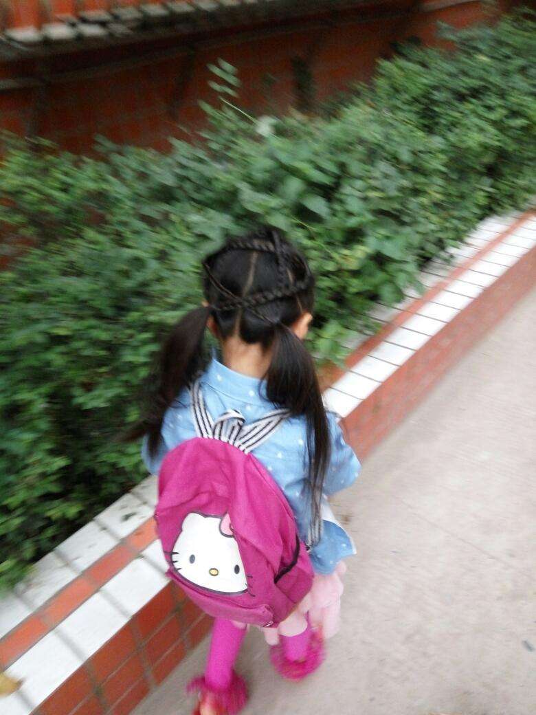 儿童五角星发型扎法图片