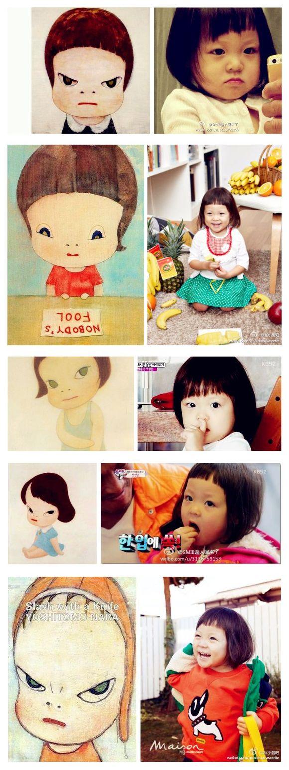 奈良美智的nara娃娃.我的玩具350作文图片