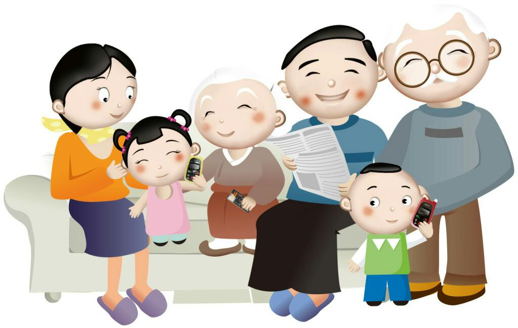 我们都是一家人漫画_幸福是什么,就是一家人开开心心的.