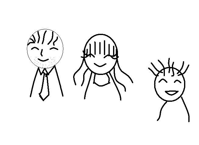 求爸爸妈妈宝宝的表情简笔画,非常感谢!图片