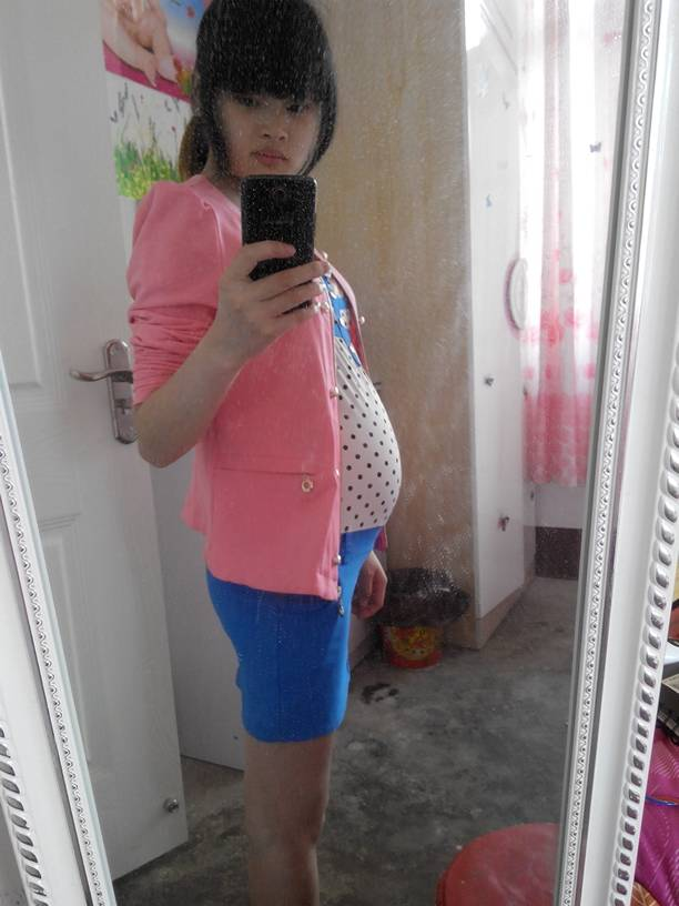 四个月孕妇_这是我五个半月的,四个月不显杯吧