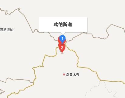 新疆喀纳斯湖地图