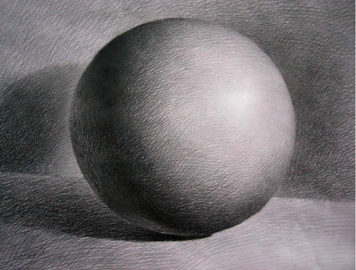 求3d素描球体图片