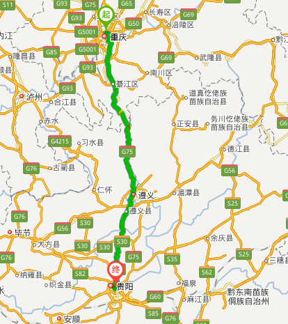 重庆到贵州广西自驾游