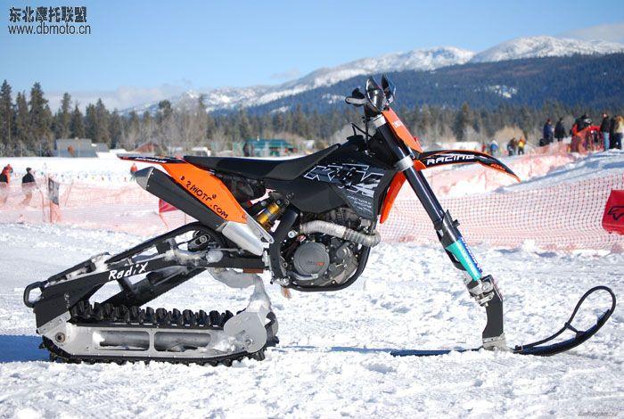 怎样把普通摩托车改装成带履 雪地摩托车 ?(700x470)-摩托车雪地高清图片