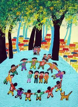 """求大班幼儿绘画作品----""""秋天的树林""""的图片!图片"""