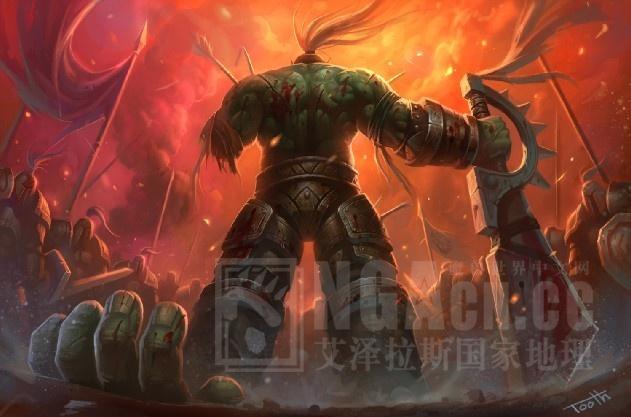 求一《魔兽世界》兽人战士壁纸,以前在游民星空看见的