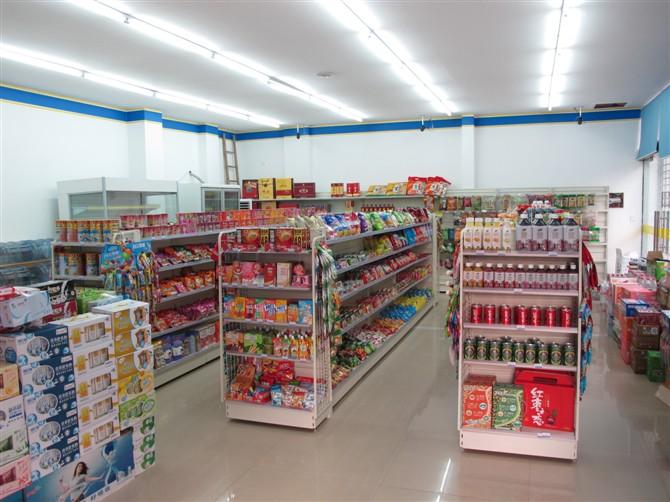 小县城60平米日用品超市,门面长10.6,深6米,1,需什么货架,如何摆设?图片