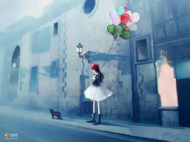 情侣头像背影打伞