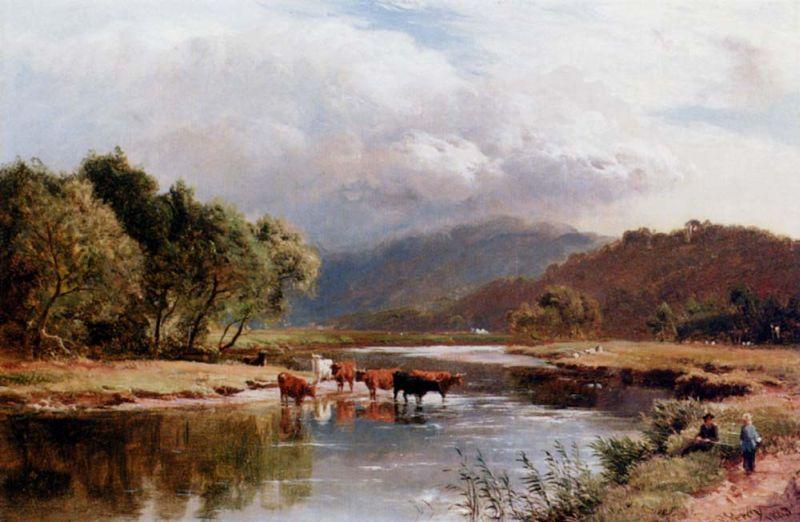 谁有这个油画大师的作品-西德尼·理查德·珀西英国风景画家sidney ri图片