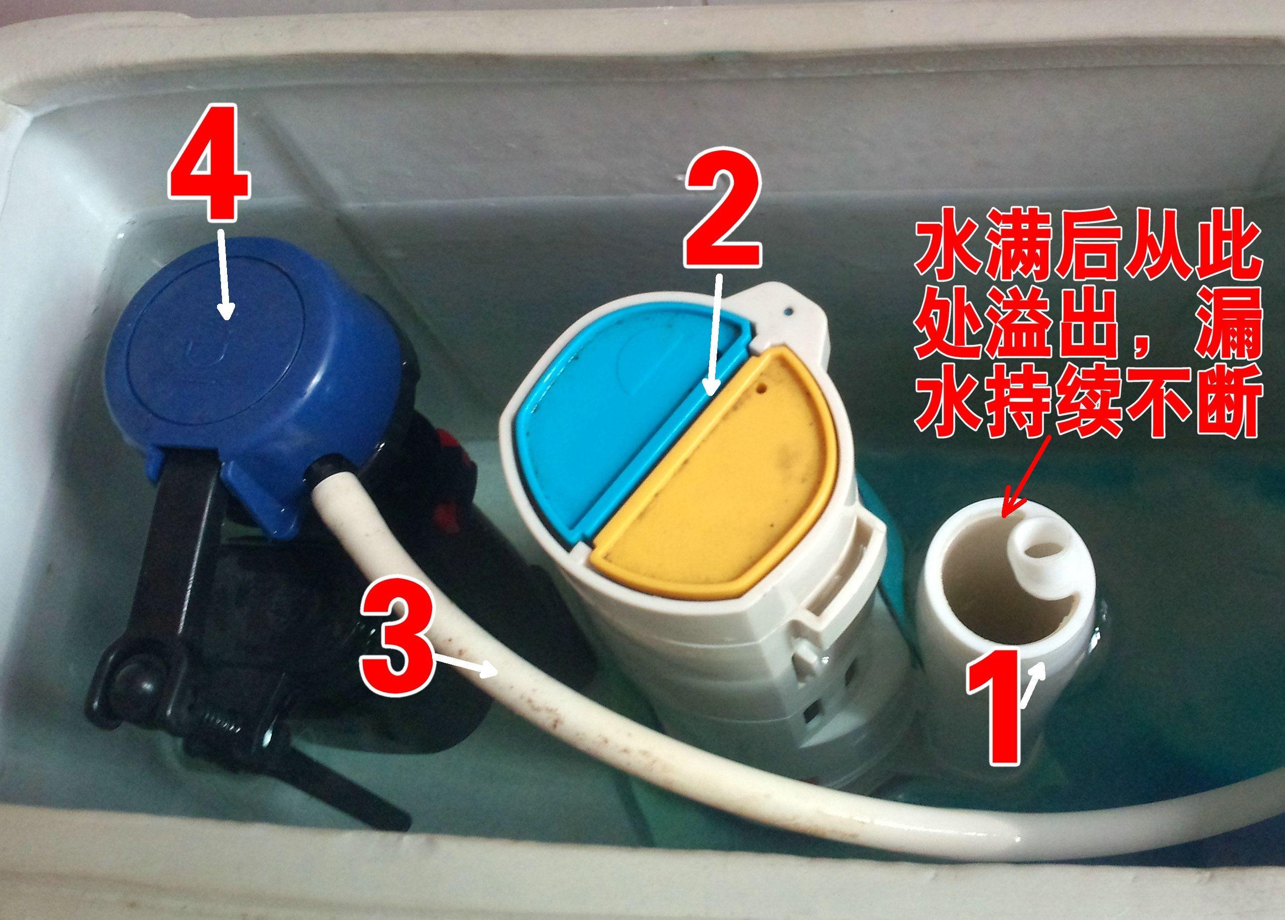马桶水箱漏水(附图),怎么修?图片