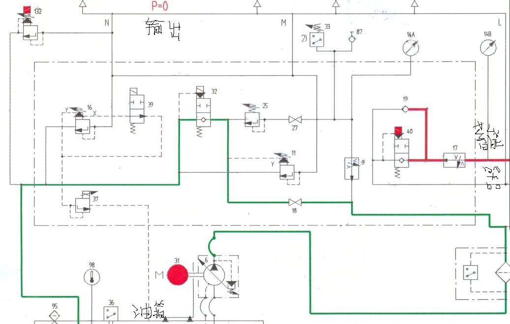 这个abb液压图 怎么看?每条油路解释详细,另加三十分绝不食言.图片