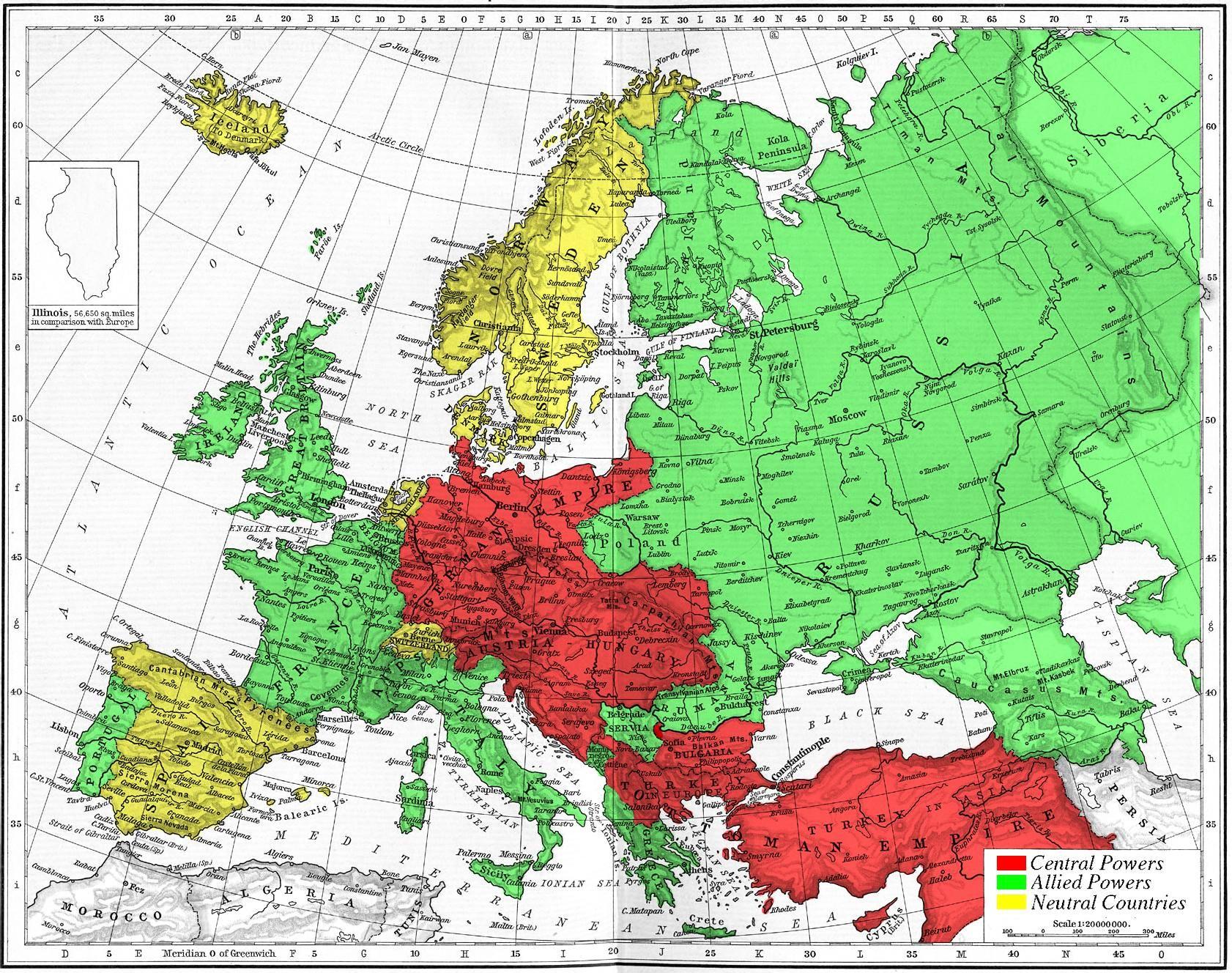 初三的一战后欧洲地图图片