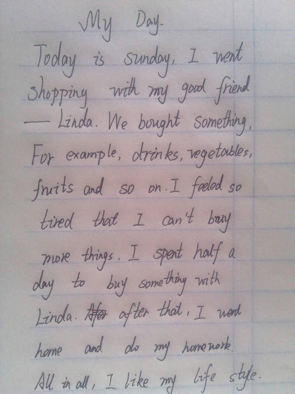 写一篇英语作文(my day)我的一天图片