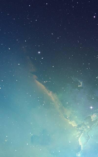 谁给我发一张ios7那个蓝色星空的壁纸……谢谢了一定给好评图片