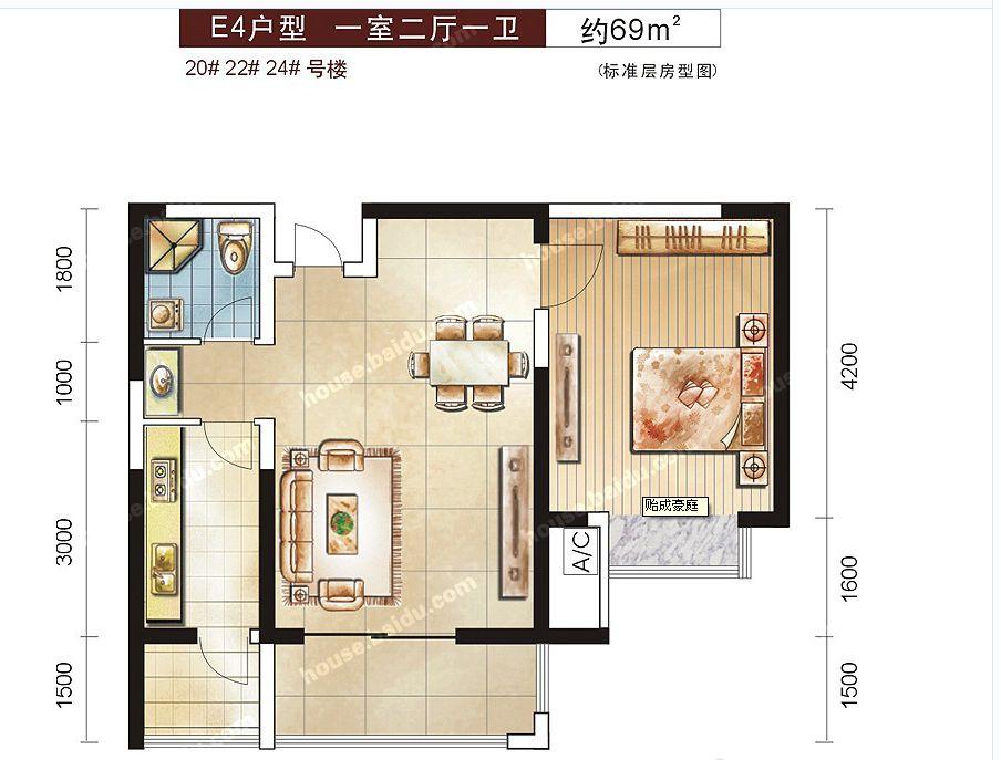 新房子上传,装修个户型图,帮忙70平米左右,请朋友们建筑v户型一下.慈溪市建筑设计有限公司图片