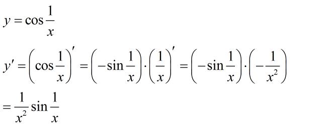 y=(cos1/x)*(cos1/x)