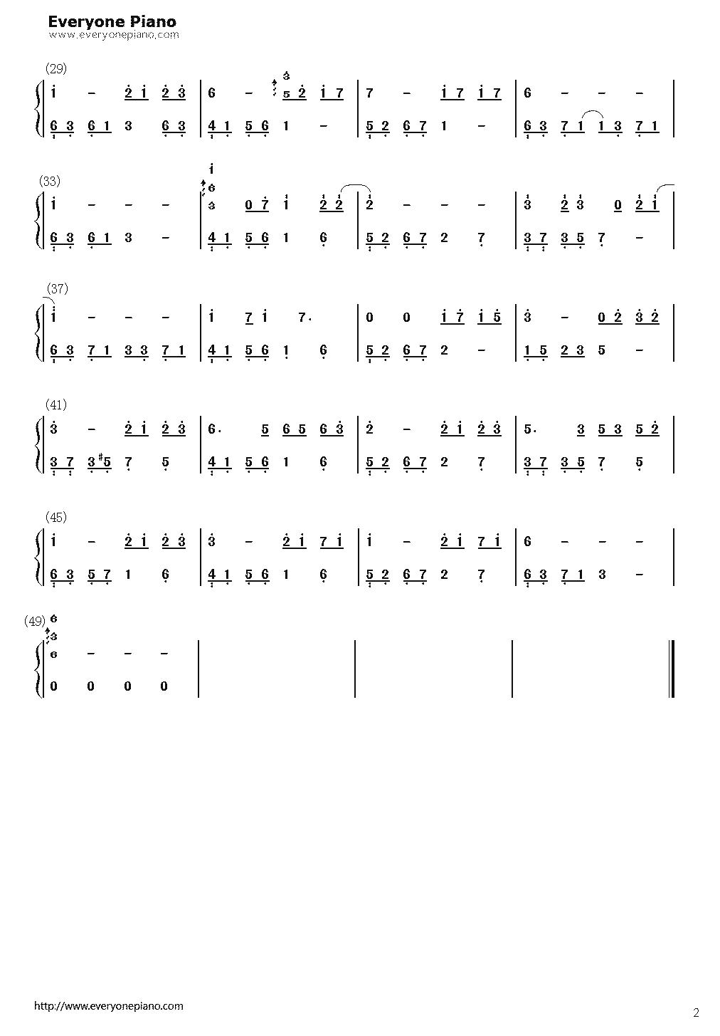 求石进《夜之钢琴曲(四)》的简谱图片