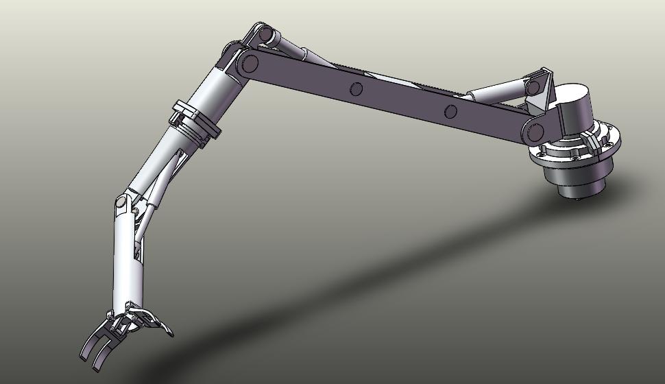 求助 液压机械手编程 plc控制4个液压缸的伸缩 2个液压缸的转动,能够图片