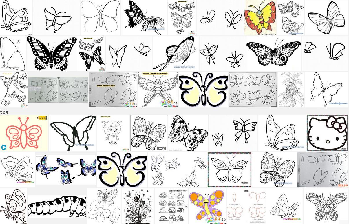 蝴蝶花边边框简笔画