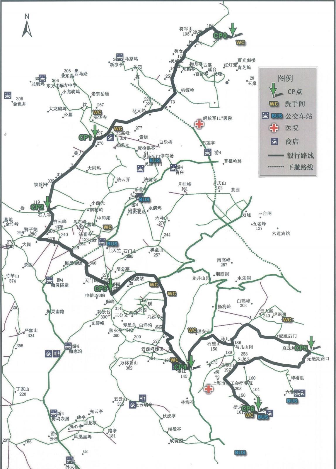 杭州西湖游玩路线图