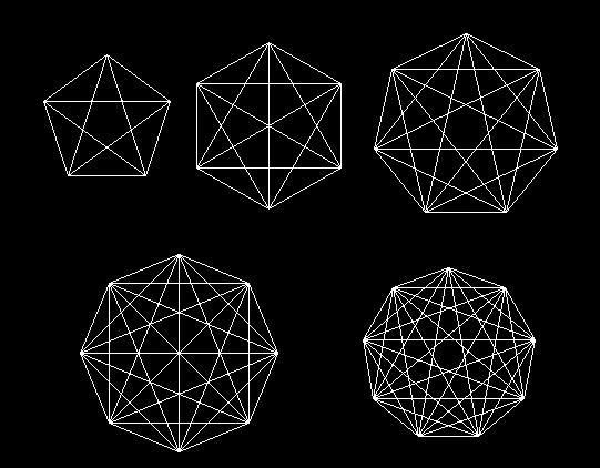 用4个同样的圆摆成一个轴对称图形有几种方法,并画出.图片