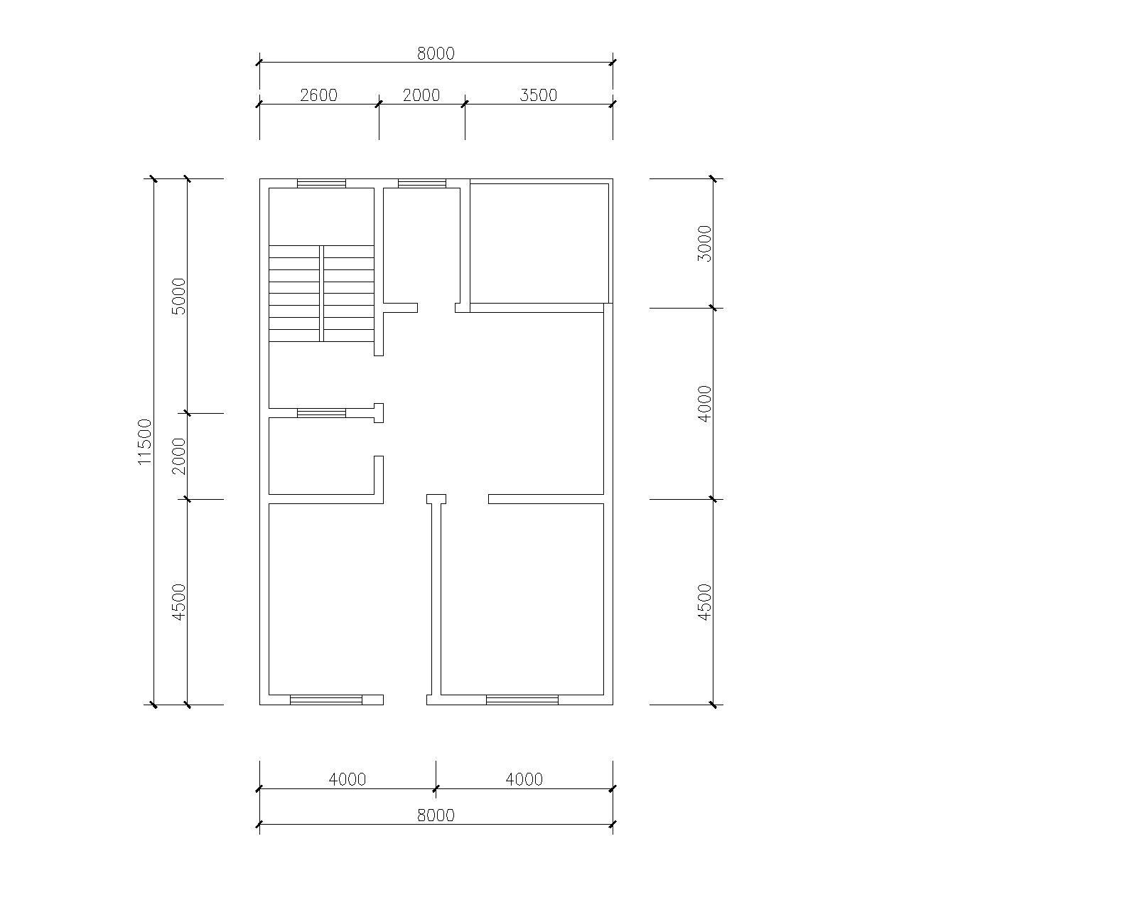 设计一套长13米,宽8米的农村自建房屋设计图.图片