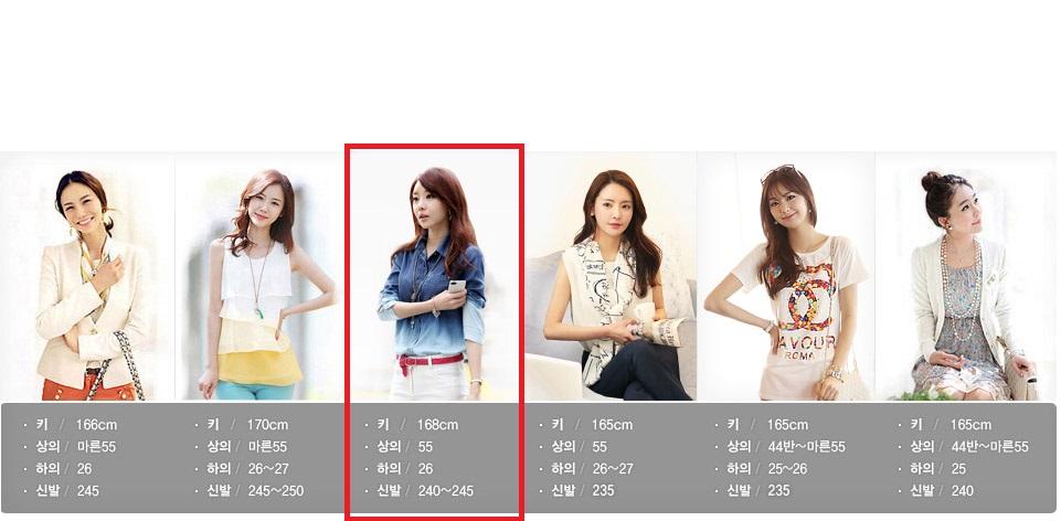 淘宝网上此韩国服装模特资料
