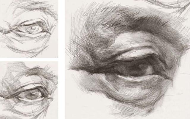 手把手教你素描 图文演示写实风的人物眼睛素描画法的技巧和步骤