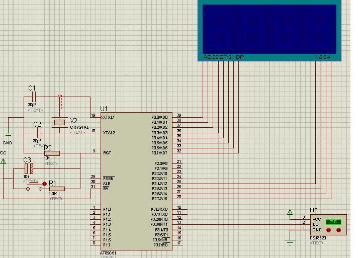 数字温度计设计 单片机at89c51; 51单片机温度51单片机复位电路51图片