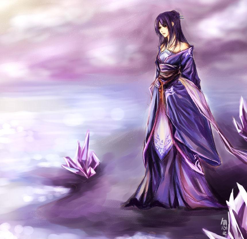 》背景要淡紫色的