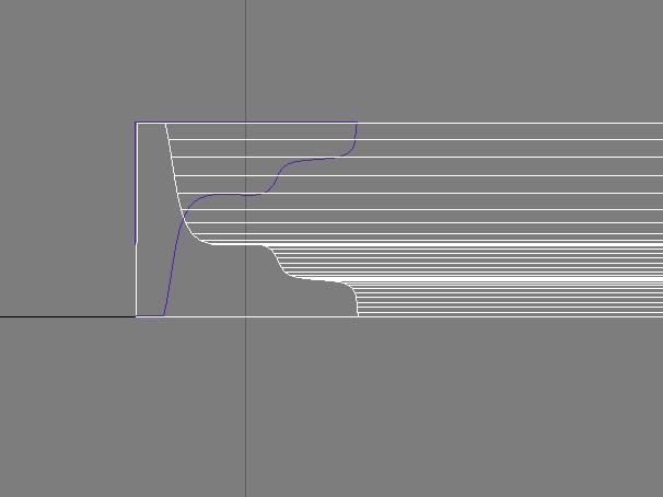 我想请问在3dmax中,石膏线条的路径怎么画?图片
