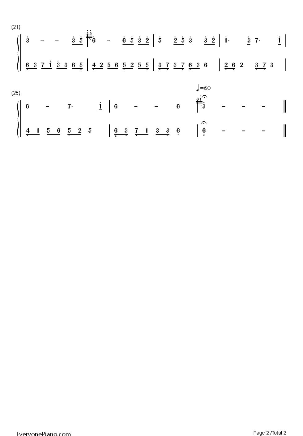 夜的钢琴曲1带指法钢琴谱简谱图片