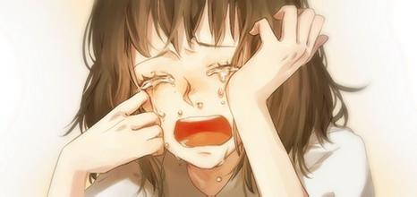 求一个小女孩擦眼泪的动漫头像