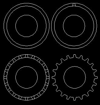 圆形能画出什么-CAD怎样画齿轮 百度知道  <IMG>