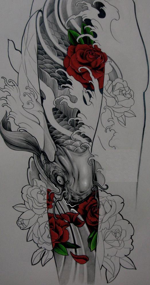 纹身 花臂手稿 谁有花臂的 手稿啊, 给我发来看看图片