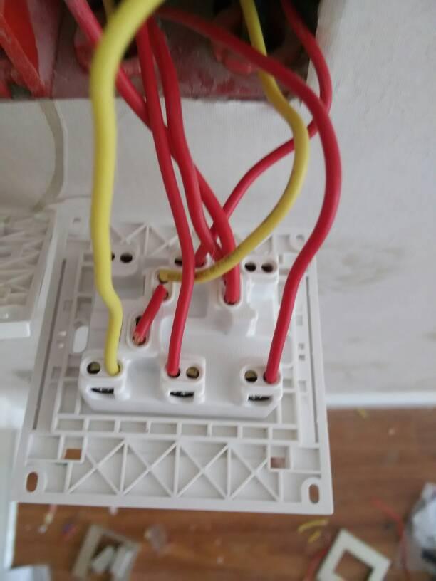 开关 求时控 开关 的 接线 图双开双控灯 接线  双控开关接线实物图图片