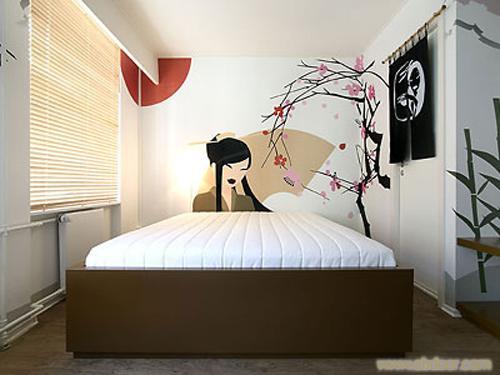 墙绘的应用 室内墙体彩绘:   电视背景墙,沙发背景墙,卧室,儿童房间图片