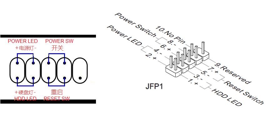 微星主板43 c51 主板 跳线怎么接图片