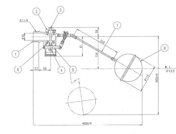 马桶水箱浮球阀原理图分享展示图片