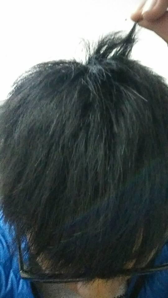 头发要多长能烫 这么长行吗图片