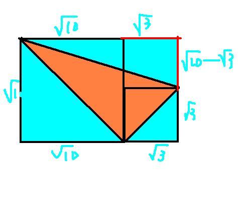 长方形面积-三个三角形面积图片