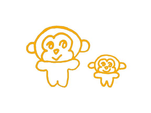 画猴子用什么颜色_求高手帮我照着这个简单的猴子,画一下,一共两只猴子