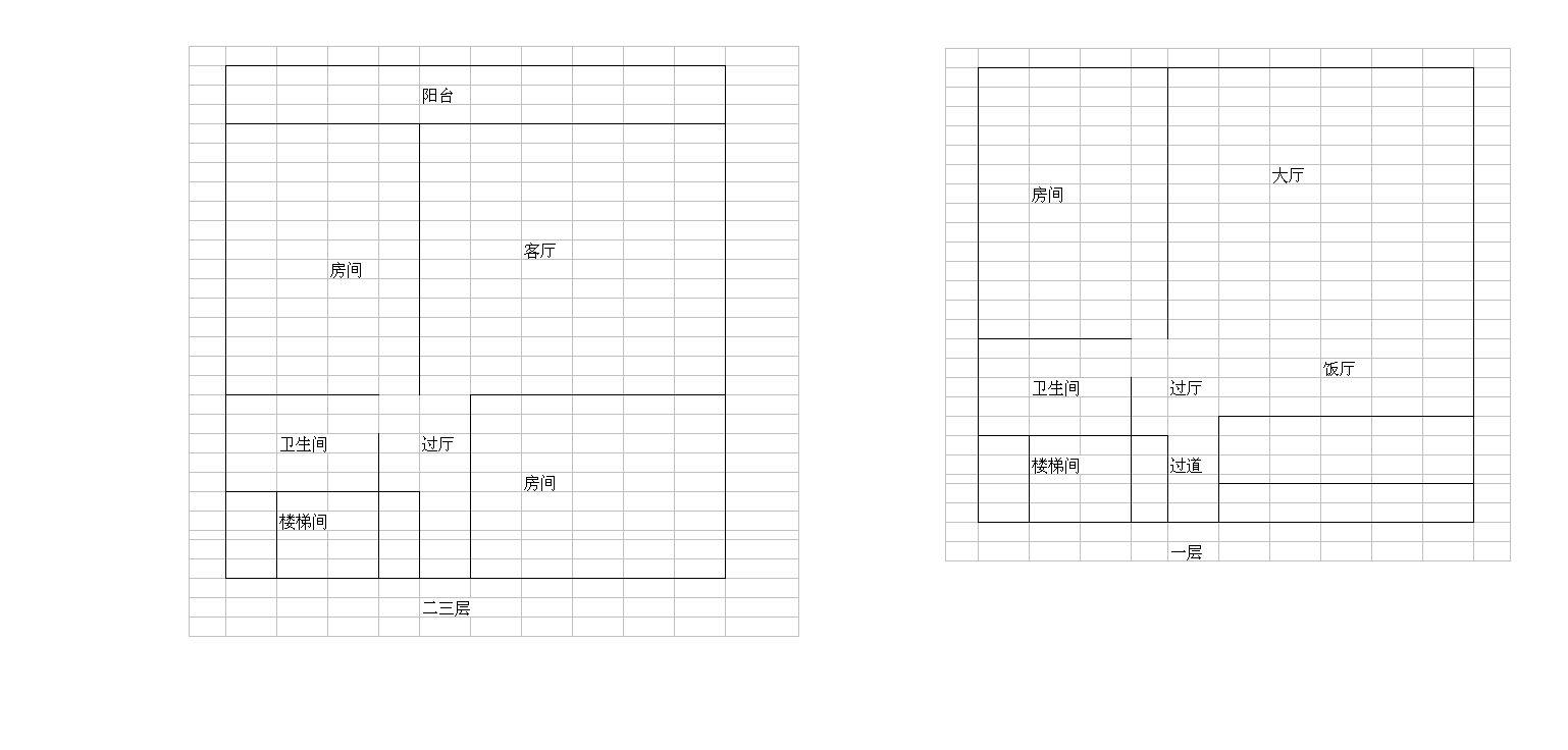 我要盖8米乘8米的三层楼房,房屋的格局应该怎样设计,一楼要有一卫一图片