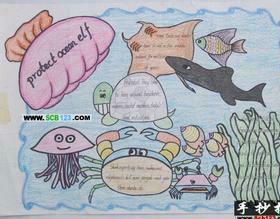 用a3的纸,做一张四年级英语手抄报,命题为四大发明图片