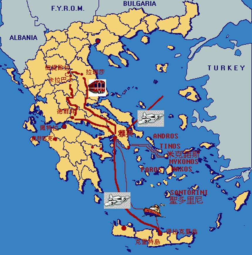 实为爱琴海,是地中海的一部分,位于希腊半岛和小亚细亚半岛之间图片