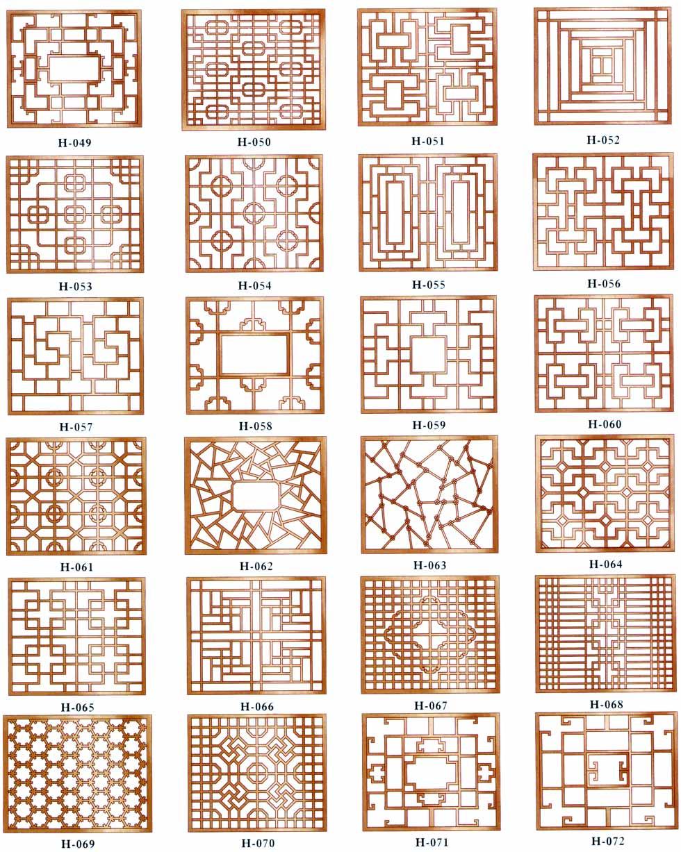 花格形状多样,有正方形;长方形;八角形;圆形等形状.图片