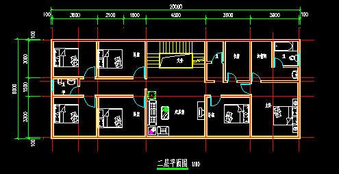 二层楼房户型平面设计图纸大全图片