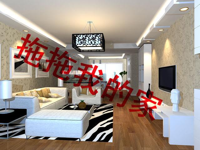 农村百平三间平房客厅装修效果图   帮忙设计一个北方农村平高清图片