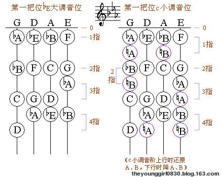 对于小提琴来说:五线谱怎么决定音高图片